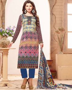 "D-Onlineshop on Twitter: ""Ethnic Look Indian #Cambric Cotton Printed Unstitched Shalwar Suit - Brown By Wear & Wow ৳ 2,080.00 Shop at Now:"