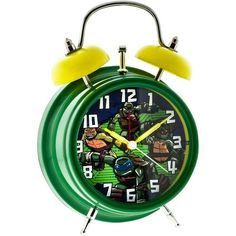 Teenage Mutant Ninja Turtles Analog Alarm Clock ($12) ❤ liked on Polyvore featuring home, home decor, clocks, multicolor, battery powered clock, analog clock, battery powered alarm clock, colorful home decor and colorful clocks