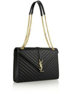 SAINT LAURENT Cassandre large quilted leather shoulder bag