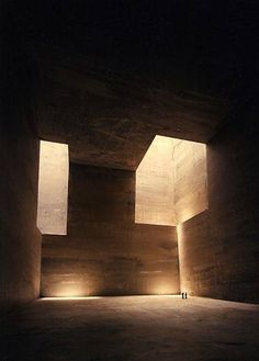 It is a Eduardo Chillida project. It`ll be digged- Eduardosculpted inside Montaña TIndaya, a sacred mountain in Fuerteventura (Canary Islands).