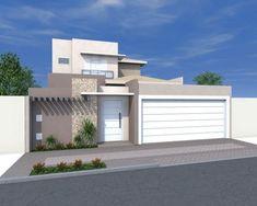 fachada esquina - Pesquisa Google #casasminimalistasprojeto #fachadasmodernassobrado