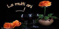 Felicitari personalizate de Ziua Numelui - La multi ani ...! Red Wine, Wine Glass, Free Pattern, Alcoholic Drinks, Happy Birthday, Table Decorations, Tableware, Sf, Google