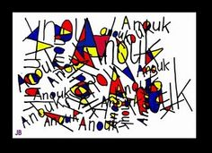 Name design- Mondrian inspired/ Primary colors-great for beginning of the year!