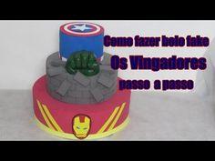 Como fazer bolo fake Os Vingadores passo a passo - YouTube