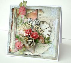Nic Howard card autumn escape, scrapbooking shabby chic