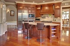 Kitchen in Bellevue home..loved the big island with lots of storage.