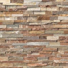 Construct a newfangled look in your home by installing this excellent MSI Golden White Ledger Panel Natural Quartzite Slate Wall Tile. Stacked Stone Panels, Faux Stone Panels, Stone Siding, Stone Cladding, Stone Veneer Exterior, Slate Wall Tiles, Stone Veneer Panels, Fireplace Surrounds, Fireplace Stone