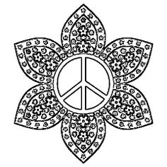 Coloring Pages Of Peace Signs  Printable Coloring Pages