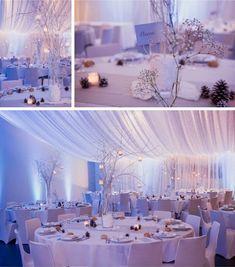 Déco et fleurs by FéeLicité Photos: Raphael Melka table en hiver Mariage hivernal au Millenium à Weitbruch