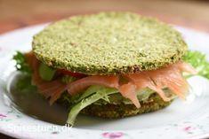 broccoli-brød-8 Healthy Baking, Lchf, Salmon Burgers, Gluten Free Recipes, Sandwiches, Low Carb, Ethnic Recipes, Fest, Wraps