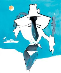 Came across Eduard Erlikh's work online, great stuff. | See more about fashion illustrations, san tropez and illustrators.