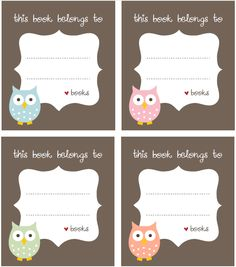 Never lose a good book again with these #owl labels: http://blog.worldlabel.com/2012/free-bookplate-label-template.html.#utm_sguid=58809,33a48356-a8c3-5ea2-4044-e38b6aecc518
