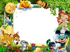 Marcos Disney para fotos Snow White Art, Disney Frames, Cute Winnie The Pooh, Boarders And Frames, 1st Birthday Pictures, Photo Frame Design, School Frame, Printable Recipe Cards, Frame Background