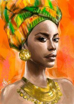 Editor's #Style Picks - Gorgeous #African artworks (Oil painting).  #ZenMagazine | http://zenmagazineafrica.com/