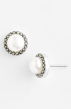 Free shipping and returns on Judith Jack Freshwater Pearl Stud Earrings at Nordstrom.com. Lustrous freshwater pearls framed by shimmering marcasite define stunning post-back earrings.