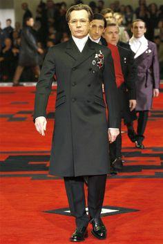 Prada Men AW 2012-2013 WHAT? GTFOOH! My favorite actors on the runway?! Nice!