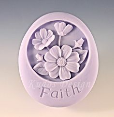 soap mold silicone soap mold FL005 Daisies Silicone by Kudosoap, $17.00