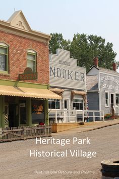 Heritage Park Historical Village in Calgary, Alberta brings history to life with historic buildings, working antiques and costumed interpreters