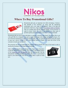 Where To Buy Promotional Gifts