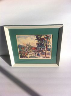 Summer Morning by RC Lockhardt Vintage Small Town Street Scene by Pesserae on Etsy