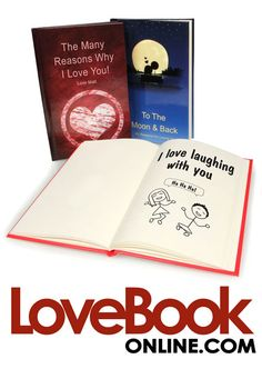 LoveBook is the most unique Personalized First Anniversary Gift you could ever give to someone you love. Create your own personalized book of reasons why you love someone. LoveBook is the perfect Paper First Anniversary Gift!