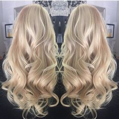 "Get this beautiful #hair with our Bleach #Blonde 18"" Deluxe Collection in 170 grams. Myfantasyhair.com #myfantasyhair #mfhextensions #longhair #blondehair #hairextensions #hairstyles #prettyhair #salon #clipinhairextensions"