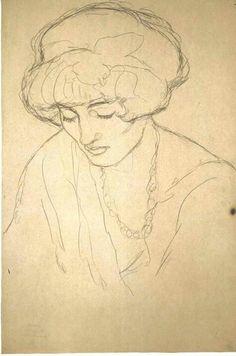 zeichnungen Klimt – Brustbild mit gesenk… – Keep up with the times. Gustav Klimt, Klimt Art, Figure Painting, Figure Drawing, Painting & Drawing, Life Drawing, Drawing Sketches, Art Drawings, Cy Twombly