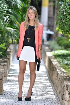 glam4you - nati vozza - look - preto e branco - neon - look do dia