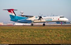 LX-LQB \\ Bombardier Dash 8-Q402 \\ Luxair - Luxembourg Airlines