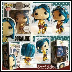 Genial Coraline custom pop! Realizado por @soriideas #SoriideaS #funkopop…