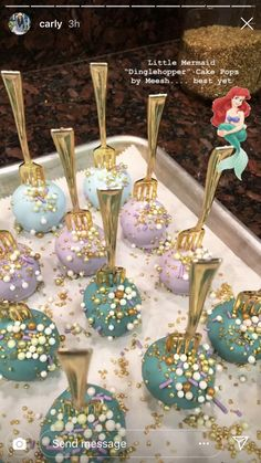 Mermaid Party Decorations, Birthday Party Decorations, Mermaid Party Favors, Mermaid Cake Pops, Mermaid Birthday Cakes, Birthday Cake Pops, Little Mermaid Parties, Little Mermaid Cakes, 6th Birthday Parties