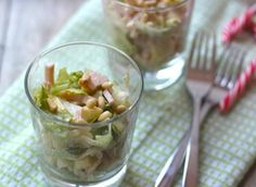 Chicken cocktail with apple - Nice Christmas starter! Tasty and Simple - (Chicken) cocktail in a glass! Tapas, Gourmet Recipes, Cooking Recipes, Easy Recipes, Mezze, Bon Ap, Snacks Für Party, Xmas Food, Appetisers
