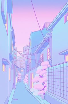 vaporwave pixel Osaka Morning Mini Art Print by Elora Pautrat - Without Stand - x Cute Pastel Wallpaper, Anime Scenery Wallpaper, Aesthetic Pastel Wallpaper, Kawaii Wallpaper, Aesthetic Backgrounds, Cartoon Wallpaper, Pink Aesthetic, Aesthetic Anime, Aesthetic Wallpapers