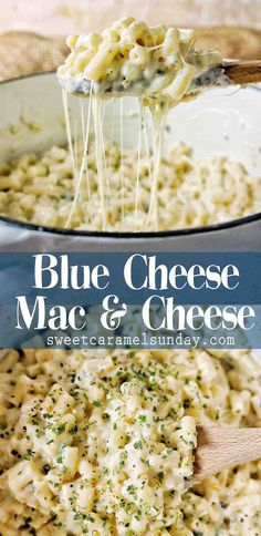 Blue Cheese Mac and Cheese is the ultimate homemade comfort food. With a creamy,… Blue Cheese Mac and Cheese is the ultimate homemade comfort food. With a creamy, cheesy sauce this stove top mac and cheese recipe is quick and easy. Best Mac N Cheese Recipe, Blue Cheese Recipes, Blue Cheese Sauce, Best Mac And Cheese, Pasta With Blue Cheese, Pot Pasta, Pasta Dishes, Food Dishes, Easy Pasta Recipes