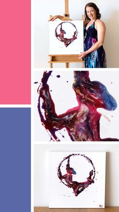 'Splatter Hoop' is a lyra /aerial hoop /aerial ring resin figure painting on canvas. Lyra Aerial, Aerial Hoop, Resin Paintings, Figure Painting, Figurative, Shapes, Ring, Canvas, Artwork