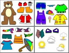 Printable paper dolls to teach appropriate warm cold weather