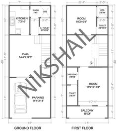 Indian house design, small house design, house plan with elevation, Nikshail House Design Bungalow House Design, Small House Design, Modern House Design, Micro House Plans, Narrow House Plans, 20x40 House Plans, Indian Home Design, Architectural House Plans, Indian Homes