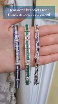 Sapphire Bracelet, Gemstone Bracelets, Travel Jewelry, Jewelry Organization, Bracelet Designs, Fine Jewelry, Jewellery, Vintage Jewelry, Jewels