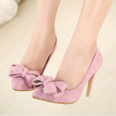 Delectable New Style Bowknot Stiletto Heels Shoes Stiletto Shoes, Pointed Toe Heels, Super High Heels, Low Heels, Crazy Shoes, Me Too Shoes, Marilyn Monroe Shoes, Wedding Shoes Heels, Fashion Heels