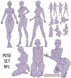 Pose set I by Asteltainn on DeviantArt Human Anatomy Drawing, Human Figure Drawing, Figure Drawing Tutorial, Body Reference Drawing, Drawing Reference Poses, Sketch Poses, Poses References, Art Poses, Drawing Base