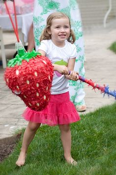 strawberry pinata for the strawberry shortcake party