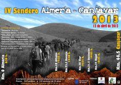 Cartel IV Sendero Almería-Canjáyar. Proyecto rumor Alpujarra Almería. Turismo rural.