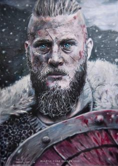 -BadEnglishI'msorry- 1258 years later, but finally I've finished a bigger drawing (the first one in and shame on me). Ragnar Lothbrook, Ragnar Lothbrok Vikings, Bjorn Lothbrok, Viking Life, Viking Warrior, Travis Vikings, Viking Wallpaper, Viking Quotes, Viking Beard