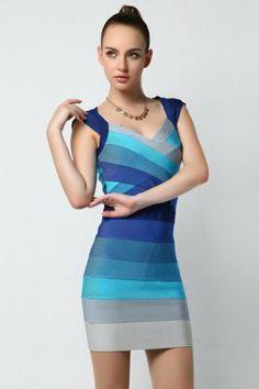 Ombre Bandage Dress Bright Aqua Combo |T48376| :http://www.wholesalebandagedress.com/ombre-bandage-dress-bright-aqua-combo-p-463.html#.UqQuCNJhBLQ