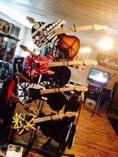 My dream guitar room. [Pic by Gerd Metzger via EVH Gear Facebook.]
