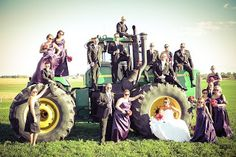 Luxe Bridal Couture: Luxe Bride: Andrea, wedding photography, tractor, john deere