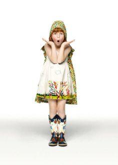 Stella McCartney Kids SS12. Looks like Little Red Riding Hood -ish. My girls need capes. Longer though.