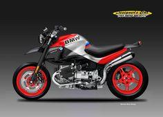 """BMW R 1150 """"STREET MOTARD"""" on Behance Cafe Moto, R Cafe, Street Motorcycles, Custom Motorcycles, Street Bikes, Bmw Nine T Scrambler, Gs 1200 Adventure, Cafe Racer Bikes, Cafe Racers"""