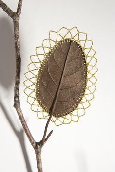 Delicate Crocheted Leaves By Susanna Bauer