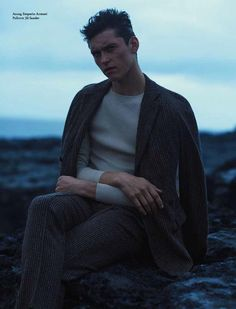 "Anders Hayward in ""A Brave Heart"" by Neil Gavin for the Fall Winter 2014-2015 Issue of L'Officiel Hommes Germany"